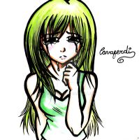 ANIME GIRL CRY by CAVAFERDI