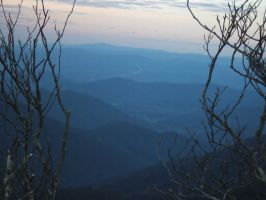 Blue Ridge Parkway Overlook by Angeliserrare