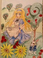 Alice, paint the roses red by Emdjoker64