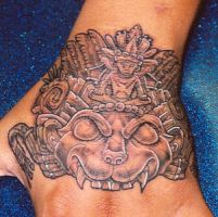 Aztec Hand by natebeavers