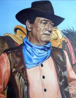 John Wayne by RMOriginalArt
