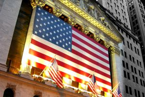 Stock Market Flag by Jorlin