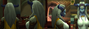 What is going on with draenei hair? by VampireCherry