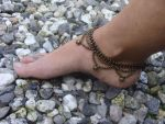 Macrame anklet / Indian anklet / tribal anklet by noisypixie