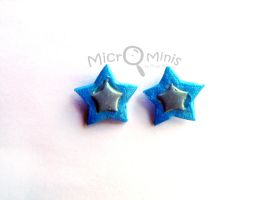 Blue Star Earrings by margemagtoto