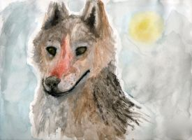 Watercolor Wolf by ZacharyWolf