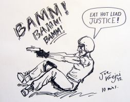 Gritty Comic Book Action- life drawing. by Joe5art