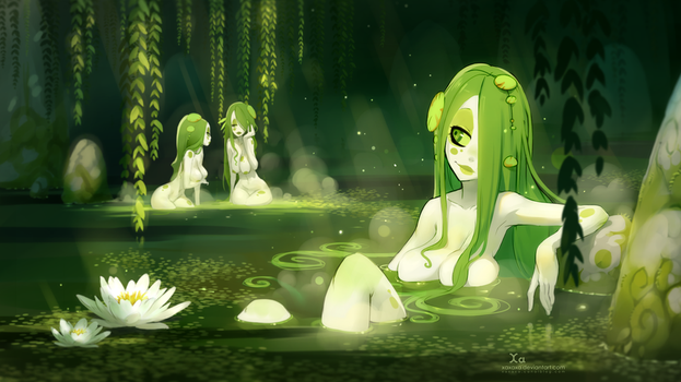 Swamp Girls by xa-xa-xa