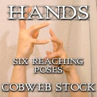 Hands:  Reaching Pose Pack by Cobweb-stock