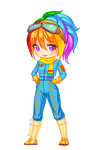 Rainbow Dash of MPL [Chibi] by Nukababe