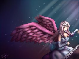 The pianist angel (speed painting) by Laly-DeRose