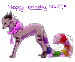 Gift - Happy birthday rain by WhiteShadovv