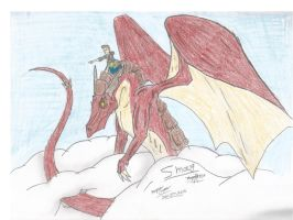 Flying with Smaug the Magnificent. by Odahviing