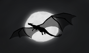 Silhouette in the Moonlight by Chronos-Dragon