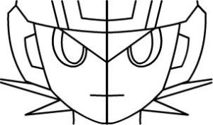 Mega Man Schematic Face Front by Dante-Flame