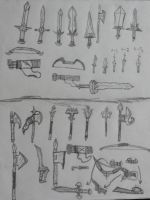 swords-weapons 8 by teambrownie1
