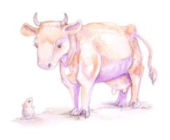Cow Encounter by ursulav