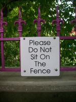 Please Do Not Sit on The Fence by PrettySquirrels
