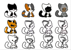 Chibi Kitten Adopts And Mystery Adopts by mermaidgirl013