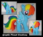 MLP Rainbow Dash Plush by GraphicPlanetDesigns