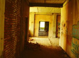Corridor in abandoned building by TheCounterCulture