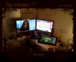 My workspace v2013 by DeyVarah