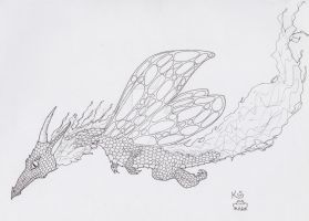 Another Faery Dragon ink by Scellanis
