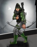 Green Arrow...Black Arrow by GeoPhreak
