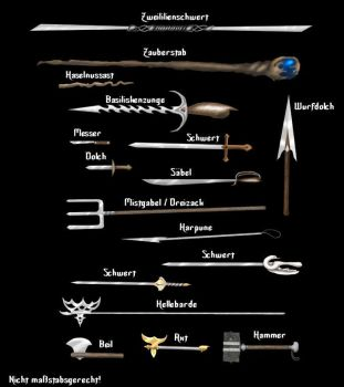 Weapons by Yuro-Aearon
