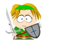 Link South Park Style by gangreensgirl