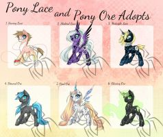 Pony Adopt Batch 1 (CLOSED) by JigokuShii