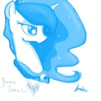Princess Luna - Done with Mouse by Jonah-yeoj