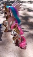 Celestia and Filly Celestia Custom by Agony-Roses