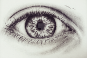 Realistic eye drawing by realm-of-lost-minds