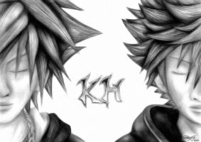 Sora and Roxas V2 by watermeloons