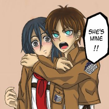 Eren x Mikasa - She's Mine!! by Enchanted-Wings