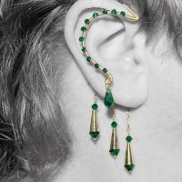 Emerald and gold wrap v6- SOLD by YouniquelyChic