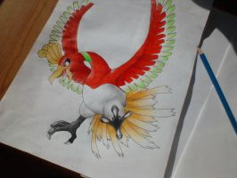 Pokemon -Ho-Oh by Pandaroszeogon