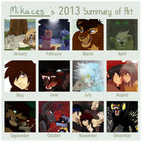 Mika's 2013 Art Summary by Mikaces