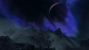 Skyrim night landscape 2 by McTaylis