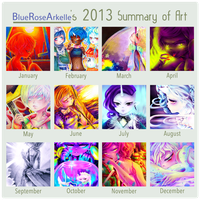 2013 Art Summary Meme by BlueRoseArkelle