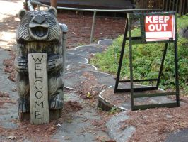 Welcome Keep Out by Swashbookler