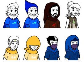 Yogscast SBURB Talksprites by CaptainQuestion