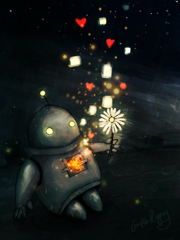 Little Robot by camibee