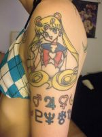 Sailormoon and symbols by kelleyko