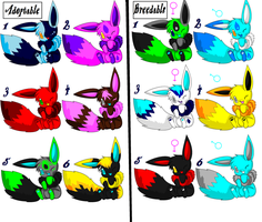 eevee adoptables n breedables by gv6500