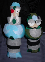 Crystal and Gideon WIP Plushies by fokkusu1991