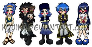 Fairy Tail Bookmark Set 2 by kojika