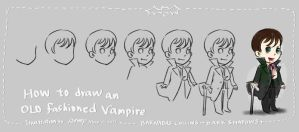How to draw an old fashioned Vampire by amoykid