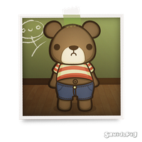 Artie the Grumpy Bear by SquidPig